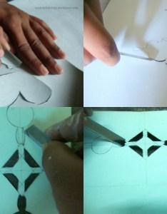 Cutting stencil also wall art  handmade stenciling  try  de by lakshmi rh madebylakshmi wordpress