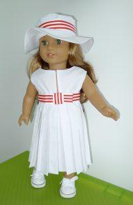 Robe plissée blanche