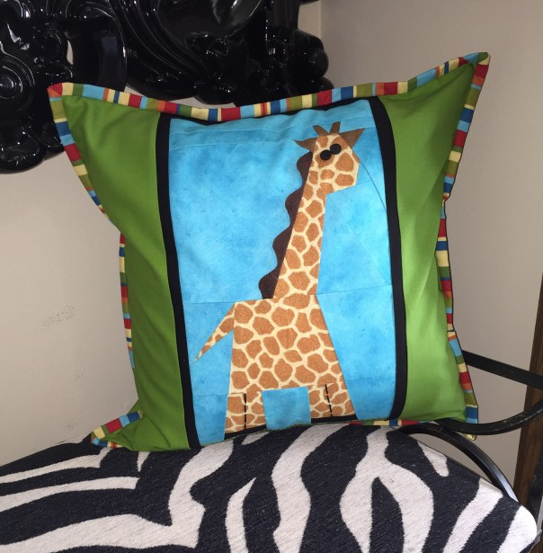 Giraffe Pillow cropped