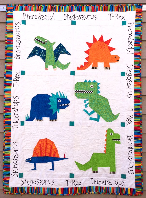 Dinosaur Quilt photo retouched