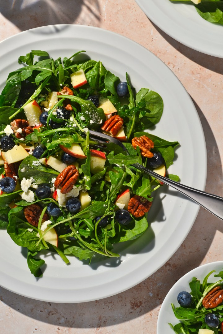 I love this salad as a starter or side dish, but it also works great as a lunch with a protein like chicken mixed in.