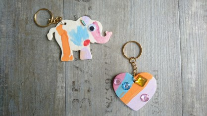 Wooden key ring making