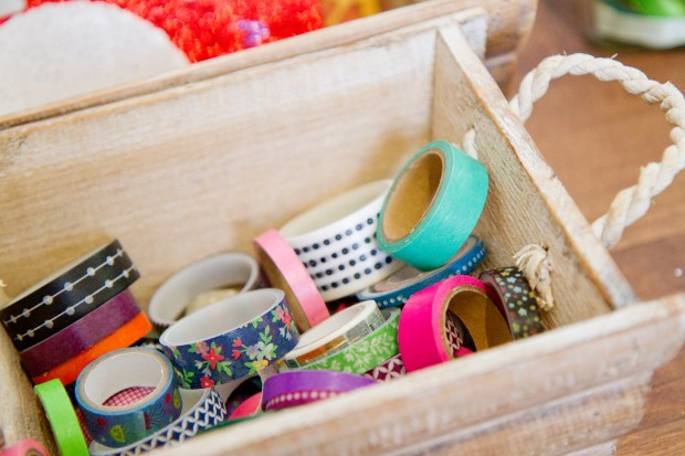 What to put in a children's craft box - a selection of washi tapes