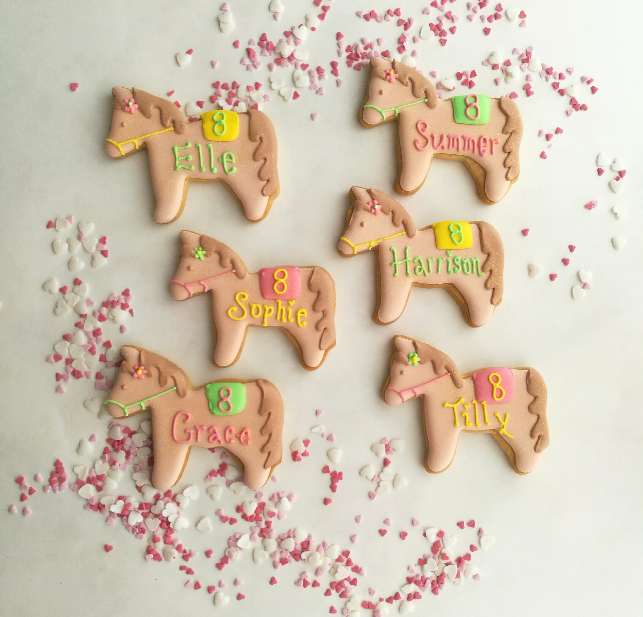 Party bag ideas; handmade and personalised pony biscuits