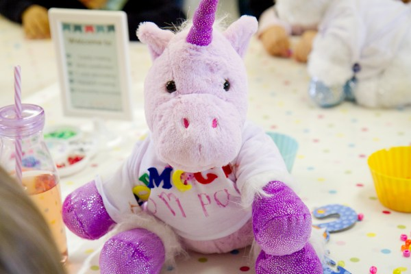 purple unicorn teddy kit