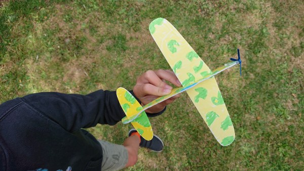 DIY craft party kit showing a decorated glider