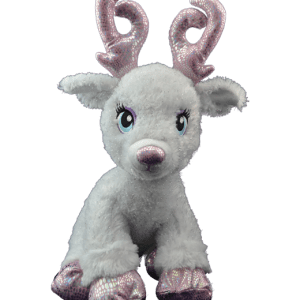 White and pink reindeer teddy to stuff