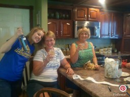 Me, my mom and a family friend enjoying some wine.