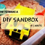 Sand Play: Make a DIY Sandbox in 5 minutes?