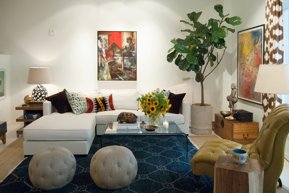 eclectic living room decor fine furniture decoration ideas up to date white sectional sofa by adrienne derosa
