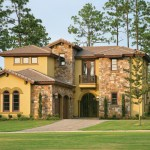 Artistic mediterranean house plan by Sater Design Collection Inc