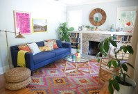 Baroque kilim rugs in Living Room Contemporary with Bright ...