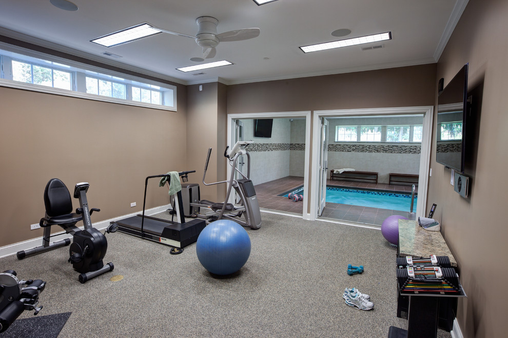 Cool Total Gym Xlsin Home Gym Traditional With Arresting