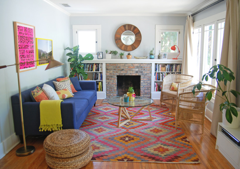 Kilim Rugs In Living Room Contemporary With Pink And Navy Next To