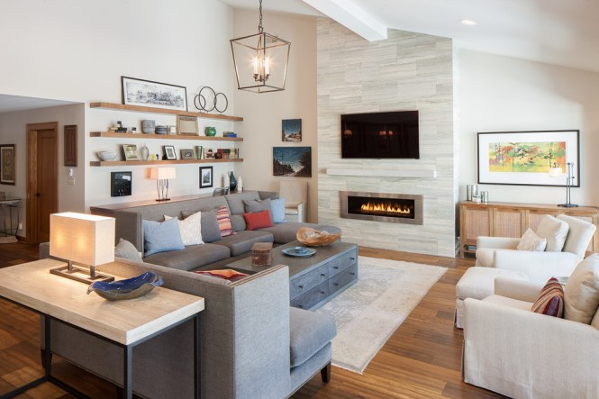Bright Mantel Shelves In Living Room Contemporary With Ledgestone Next To Fireplace Alongside Allen