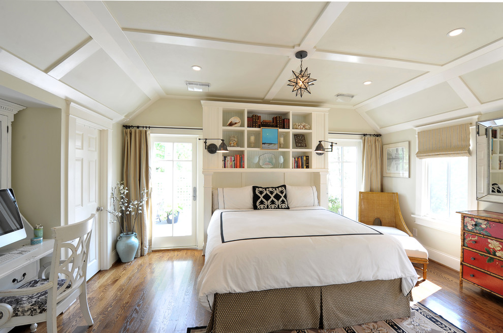 Inspired Bookcase Headboard In Bedroom Transitional With Custom Bed Next To Bed Skirt Alongside