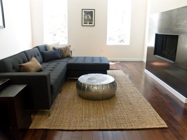 Impressive sisal rugs in Family Room Transitional with
