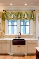 Inspired valance curtains in Kitchen Eclectic with Valance ...