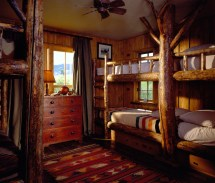 Rustic Cabin Bunk Bed Bedroom Decorating Ideas