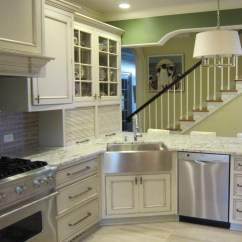 Kitchen Cabinets Overstock Countertops Granite Bright Apron Sink Inspiration For Eclectic