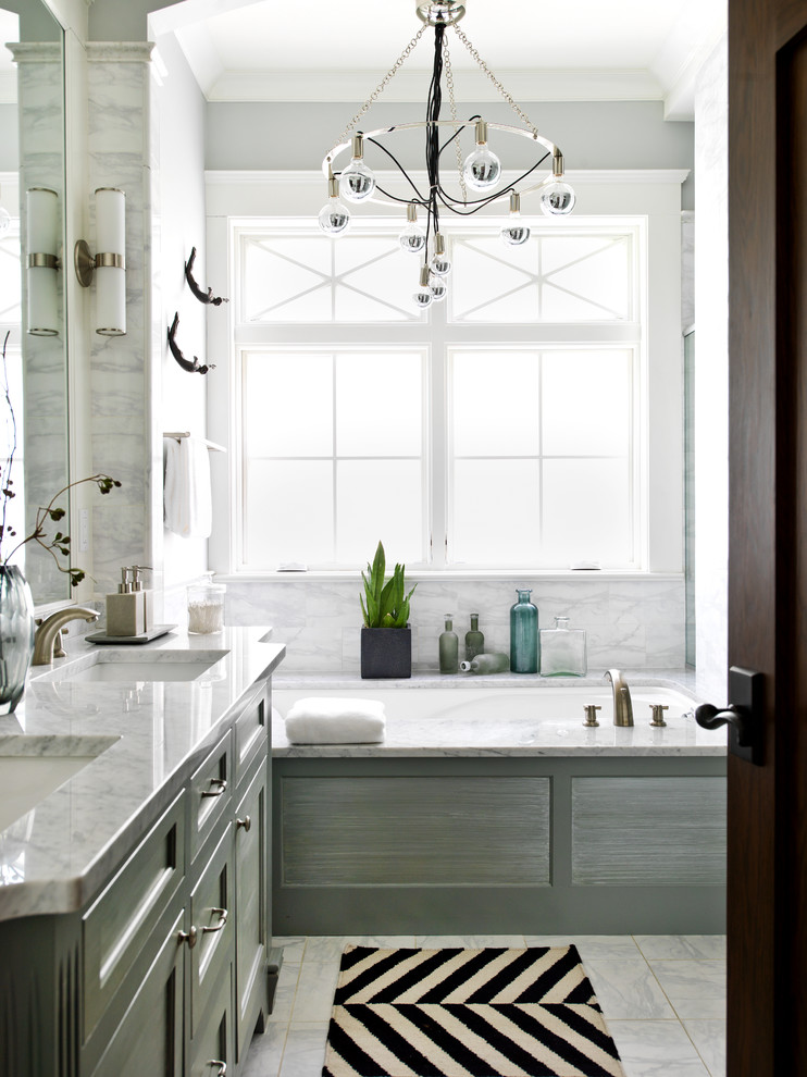 Marvelous arteriors lighting in Bathroom Transitional with