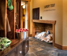 Pretty Igloo Dog House In Entry Rustic With Laundry Shoot