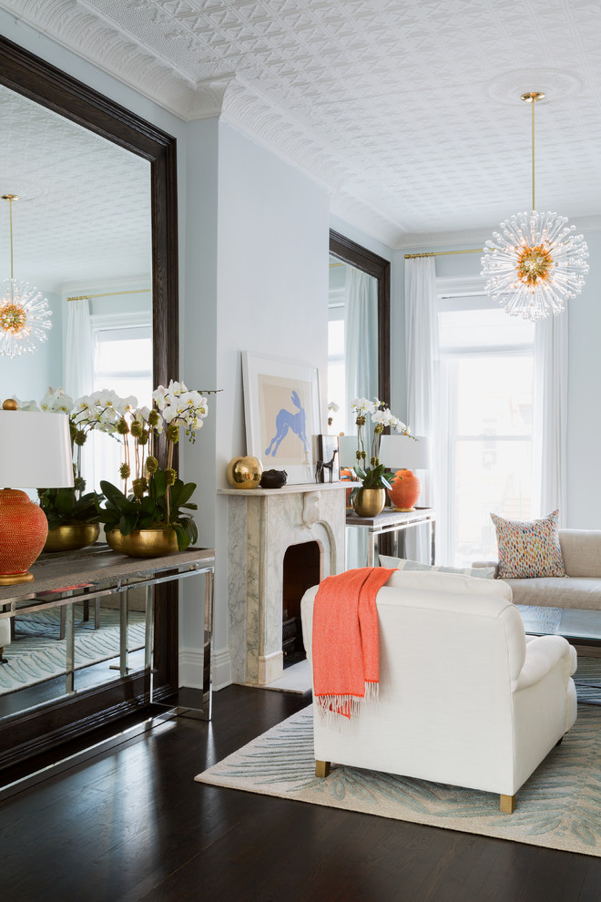 Pretty mirrored console table in Living Room Transitional