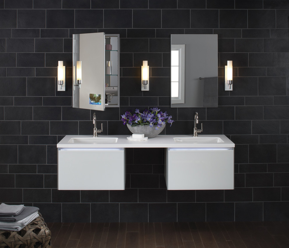 Painted Bathroom Cabinets Pretty Robern In Bathroom Contemporary With Painted Bathroom