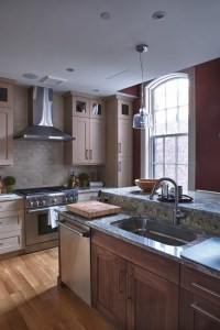 Splashy lowes electric fireplace in Kitchen Transitional ...