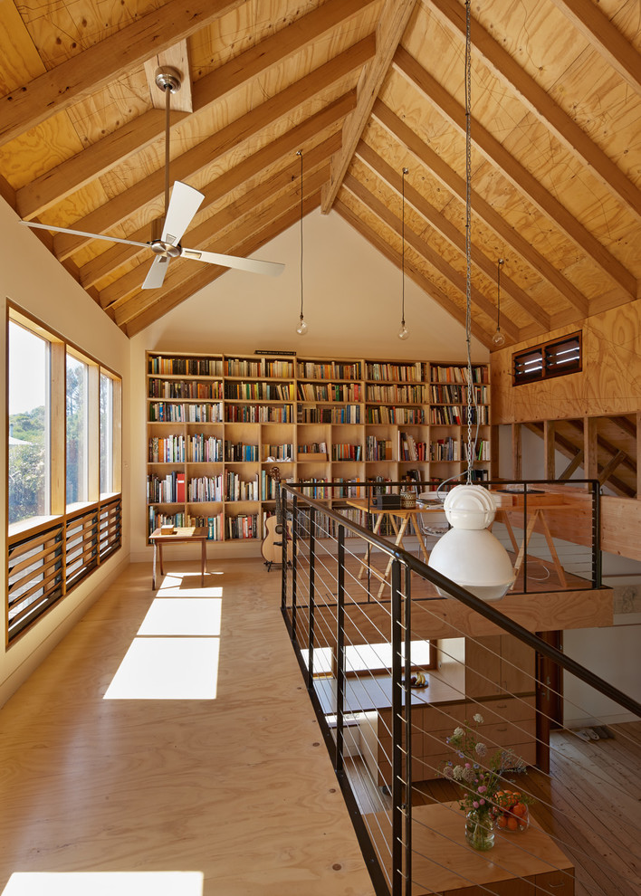 Beautiful ceiling fan globes in Home Office Farmhouse with Music Studio  next to Corner Landscaping  alongside Plywood Ceiling  and Bonus Room