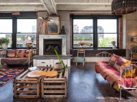 Beautiful dog crate furniture in Living Room Industrial ...