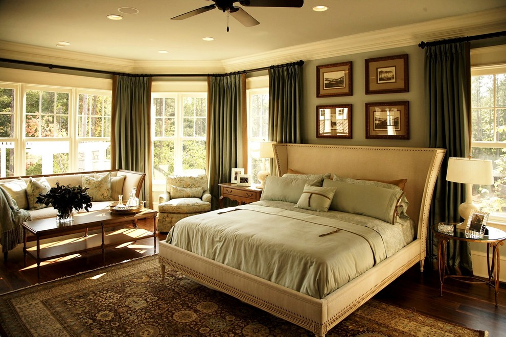 Beautiful wingback bed in Bedroom Victorian with Grey Bedding  next to Master Bedroom Ideas  alongside Green Bedroom  and Bed Design