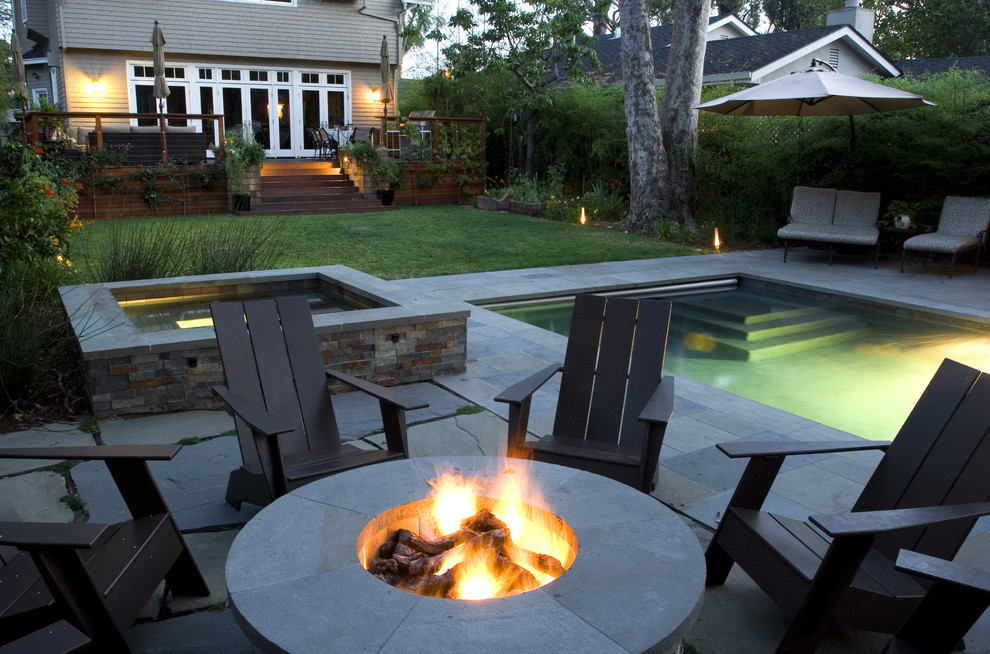 Beautiful wooden adirondack chairs in Landscape