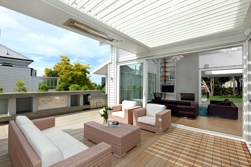 Bright dr infrared heater in Porch Contemporary with Built In Barbecue Grills  next to Clear Roof  alongside Deck Color  and Trellis