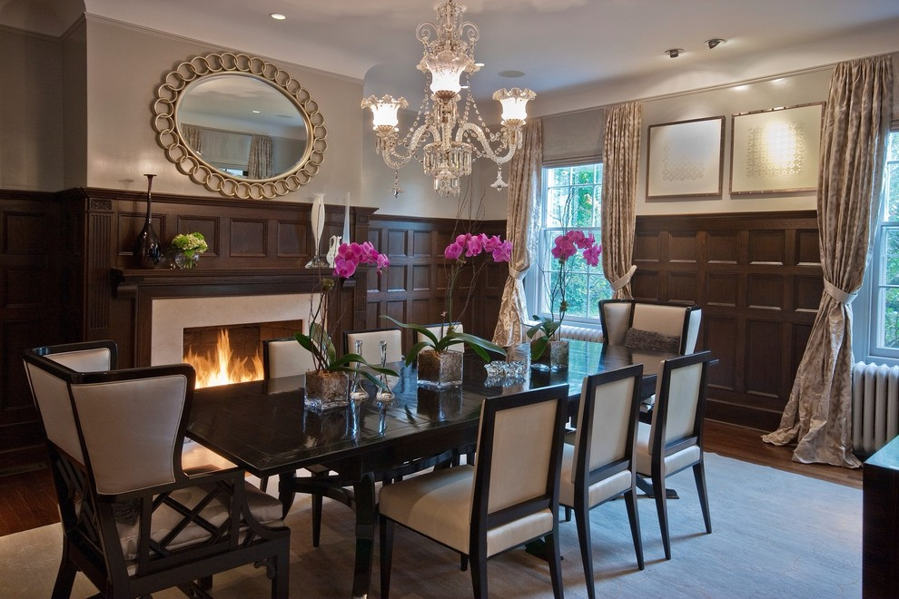 Bright wingback dining chairin Dining Room Transitional