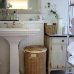 Chic bathroom exhaust fan with light in Bathroom Farmhouse with Pedestal Sink next to Above Cabinet alongside Bathrooms and Painting Wood Paneling