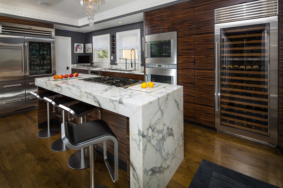 Chic movable kitchen islands in Kitchen Contemporary with  next to  alongside  and