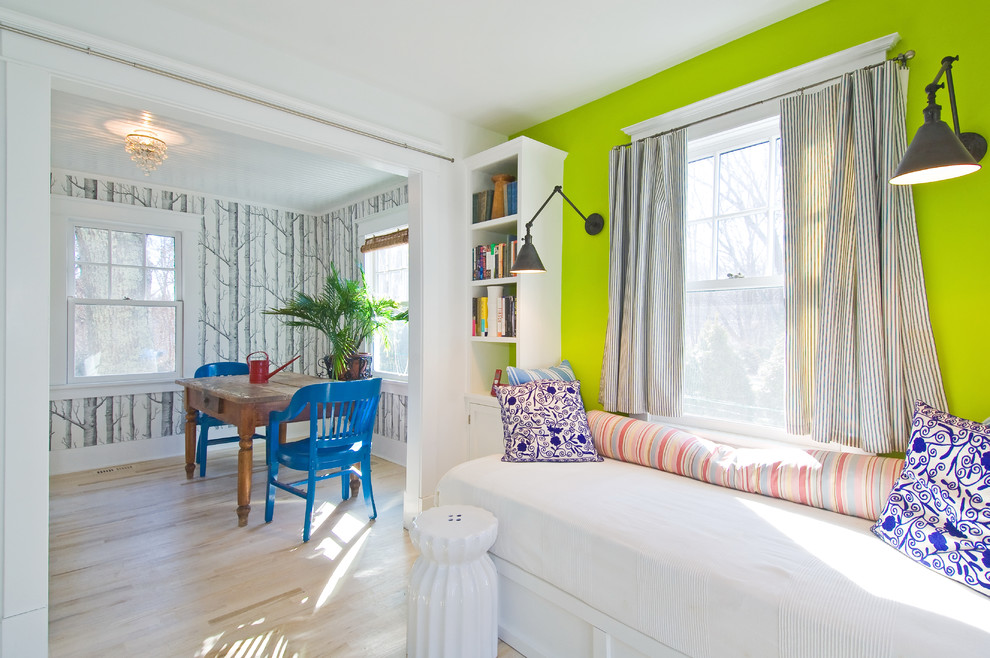 Cool day bed covers in Dining Room Contemporary with Twin Mattress Sofa  next to Green Wall Color  alongside Full Size Daybed  and Twin Over Queen Bunk Bed