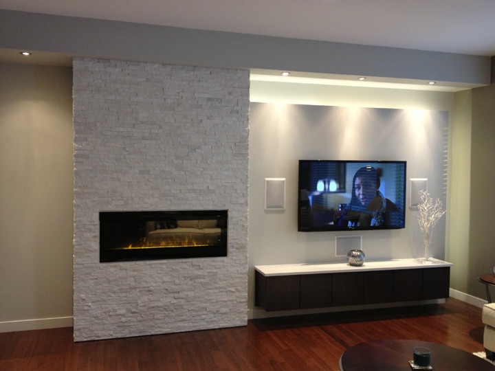 Dazzling dimplex electric fireplacesin Living Room Modern