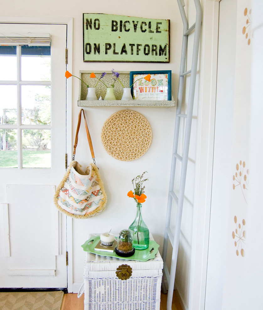 Dazzling funny welcome mats in Entry Farmhouse with Hanging Purse  next to Handbag Storage  alongside Coat Hooks  and Bohemian