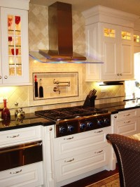 Dazzling pot filler faucet in Kitchen Contemporary with ...
