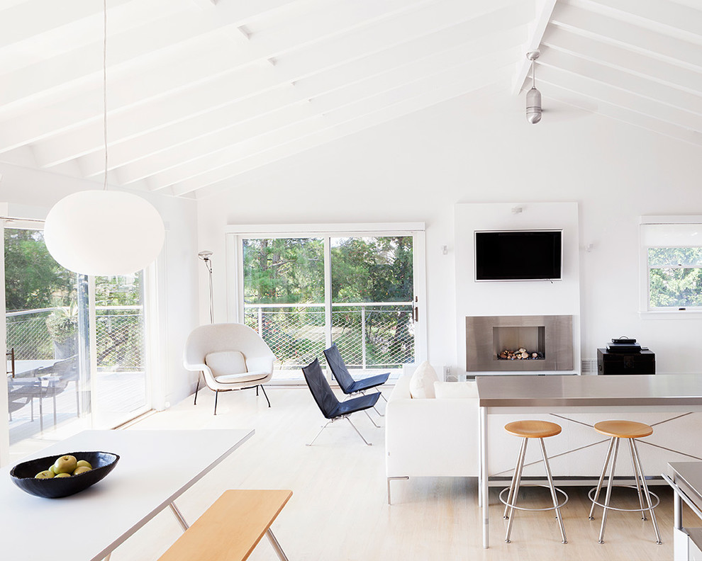 Elegant ceiling fan globes in Living Room Scandinavian with Scandinavian Bench next to Wood Dining Bench  alongside Scandinavian Fireplace  and Sectional Chair