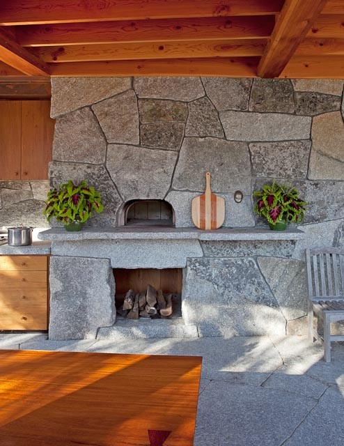 Elegant dr infrared heater in Patio Contemporary with Hide Speakers  next to Outdoor Sink  alongside Pizza Oven With Outdoor Fireplace  and Build Outdoor Pizza Oven