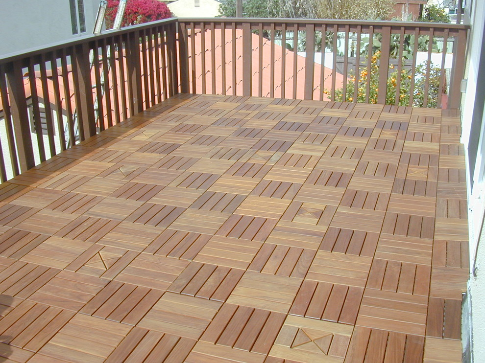 Inspired Interlocking Deck Tiles In Porch Traditional With
