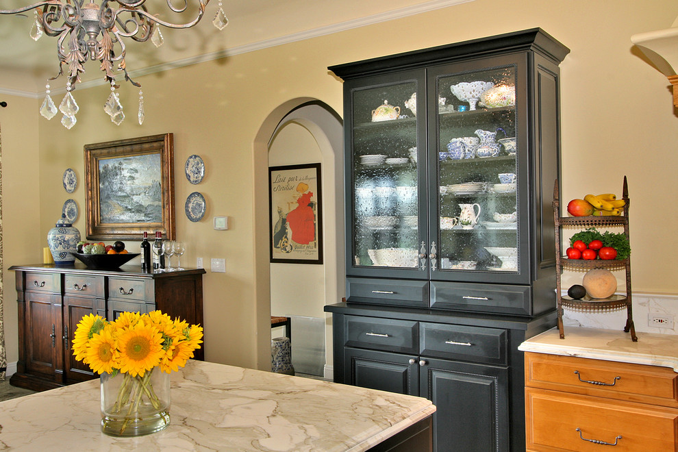 Glamorous Buffet Hutch In Kitchen Traditional With China