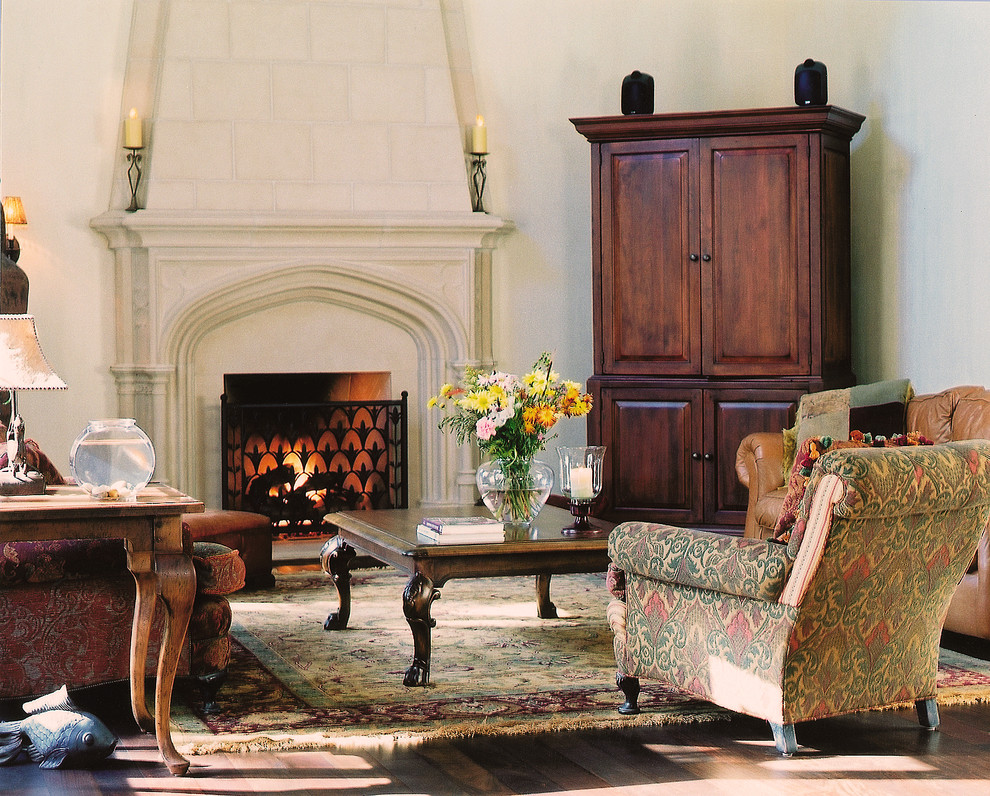 Glamorous corner armoire in Living Room Traditional with