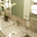 Glamorous delta dryden in Bathroom Traditional with Granite Vanity Top next to Counter Over Toilet alongside Delta Dryden Faucet and White Ice Granite