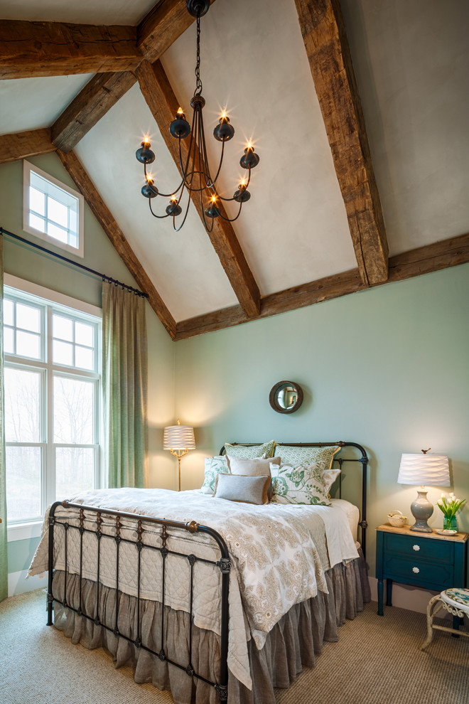 Glamorous wrought iron bed frames in Bedroom Farmhouse