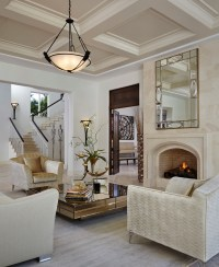 Elegant torchiere in Living Room Transitional with Baby