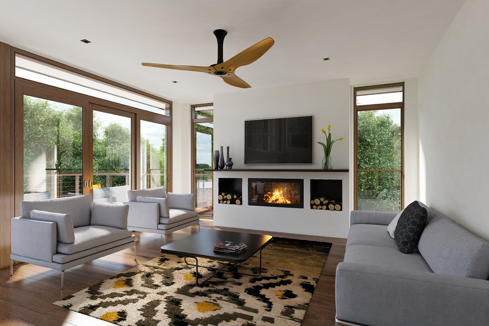Gorgeous  ceiling fan globes in Living Room Contemporary with Ceiling Mounted Barn Door  next to Low Basement Ceilings  alongside Trap Door  and High Ceilings